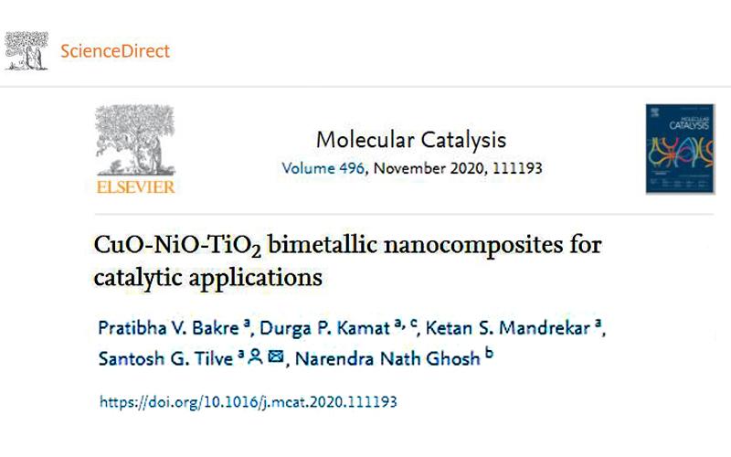 Molecular Catalysis. 496; 2020; ArticleID_111193